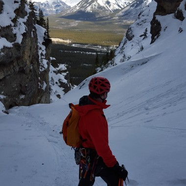 Taking in the views before starting the final pitch. Photo: Jill Yotz