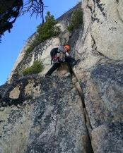 John starting P2 - Wavy Crack. Photo: Nck Sweeney